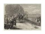 Review before the Emperor and the Prince of Wales in the Bois De Boulogne, Paris Giclee Print by Jules Pelcoq