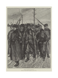 Criminal Prisoners on the March Giclee Print by Julius Mandes Price