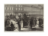 Courtyard of the Tuileries on the Night of a State Ball Giclee Print by Jules Pelcoq