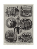 Visit of Military Officers to the Works of the Channel Tunnel Giclee Print by Joseph Nash