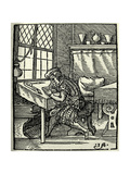 The Woodblock Cutter, 1568 Giclee Print by Jost Amman