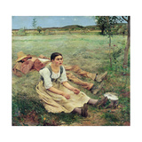 The Haymakers, 1877 Giclee Print by Jules Bastien-Lepage