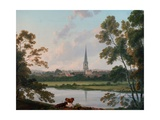 View of Masham and the River Ure at Masham, 1816 Giclee Print by Julius Caesar Ibbetson