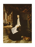 Portrait of Queen Mariana of Spain (B.1631) in Mourning, 1666 Giclee Print by Juan Bautista Martinez del mazo