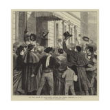 The New Regime in Spain, Scene Outside the Cortes, 10 February, 4 Pm Giclee Print by Joseph Nash