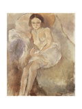 Seated Woman, C.1925-30 Gicléetryck av Jules Pascin