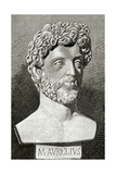 Marcus Aurelius (121 Ad 180 Ad). Roman Emperor from 161 to 180. by J. Serra Pausas. Historia De Esp Giclee Print by Juan Serra y Pausas