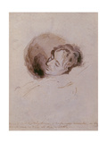 Keats on His Death Bed, 1821 Giclee Print by Joseph Severn