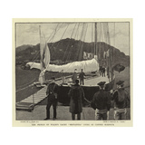 The Prince of Wales's Yacht Britannia Lying in Cannes Harbour Giclee Print by Joseph Nash