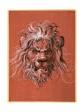 Lion's Head Giclee Print by Jost Amman