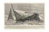 The Sinking of the Pinnace of H M S Edgar Near Chemulpo Giclee Print by Joseph Nash