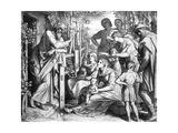 Lob Der Kinderzucht Giclee Print by Julius Schnorr von Carolsfeld