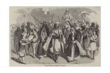 Fellah Marriage Procession in Latakia Giclee Print by Joseph-Austin Benwell