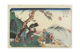 No. 36: Fountain and the Inkstone at the Torii Pass Near Yabuhara Station, 1830-1844 Giclee Print by Keisai Eisen