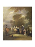 The Rev and Mrs Henry Palmer with their Six Younger Children at Withcote Hall Giclee Print by John E. Ferneley