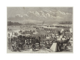 The War, Visit of the Emperor to the Camp at Chalons Giclee Print by Jules Pelcoq