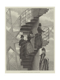 The Paris Exhibition, Sunday Reception at the Eiffel Tower Giclee Print by Julius Mandes Price