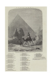 Napoleon in Egypt (Forty Centuries Look Down Upon Him) Giclee Print by Karl Girardet