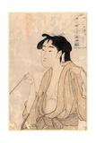 Tabako O Suu Onna Giclee Print by Kitagawa Utamaro
