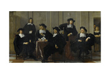 The Regents of the Spinhuis and Nieuwe Werkhuis, Amsterdam, 1669 Giclee Print by Karel Dujardin