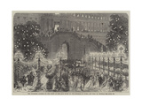 The Tuileries Gardens on the Night of the Ball Given to the Emperor of Russia and King of Prussia Giclee Print by Jules Pelcoq