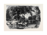 A Landscape in Touraine, Un Paysage En Touraine Giclee Print by Karl Girardet