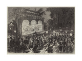 An Open-Air Theatre at Paris Giclee Print by Jules Pelcoq
