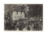 An Open-Air Theatre at Paris Giclee Print by Jules Pelcoq