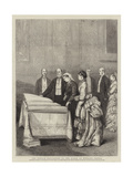 The French Deputation to the Queen at Windsor Castle Giclee Print by Joseph Nash