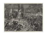 Nero after the Burning of Rome, in the Late International Exhibition Giclee Print by Karl Theodor von Piloty
