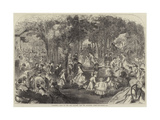 Children's Ball in the Pre Catalan, Bois De Boulogne, Paris Giclee Print by Jules Pelcoq