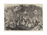 Children's Ball in the Pre Catalan, Bois De Boulogne, Paris Giclee Print by Jules Pelcoq