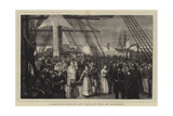 On Board an Emigrant Ship, the Last Hour Off Gravesend Giclee Print by Joseph Nash