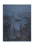 The Harbor, Genoa, 1913 Giclee Print by Joseph Pennell
