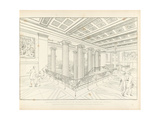 Altes Museum Berlin: View of the Staircase, 1852 Giclee Print by Karl Friedrich Schinkel