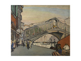 The Rialto Bridge in Venice Giclee Print by Jules Schmalzigaug