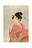 Poppen O Fuku Musume Giclee Print by Kitagawa Utamaro