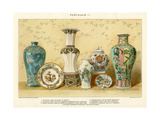 Asian Porcelains by Julius Bien, C.1880 Giclee Print by Julius Bien