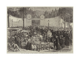 The Jour Des Morts at Paris, Entrance to the Cemetery of Pere La Chaise, Paris Giclee Print by Jules Pelcoq