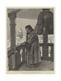 A Siberian Watchman on the Fire Brigade Tower at Yeneseisk Giclee Print by Julius Mandes Price