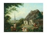 Old Cottage, Masham, 1816 Giclee Print by Julius Caesar Ibbetson