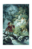 The Knight Hulbrand with Undine for the Tale 'Undine' by Baron De La Motte Fouque, 1909 Giclee Print by Julius Hoeppner