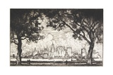 New York from Governor's Island, 1915 Giclee Print by Joseph Pennell