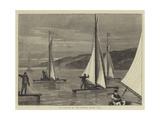 Ice Yachts on the Hudson River, USA Giclee Print by Joseph Nash