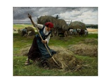 Haying Scene, 1884 Giclee Print by Julien Dupre