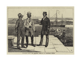 Japanese Naval and Military Officers in European Attire Giclee Print by Joseph Nash