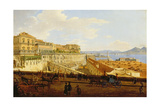 View of the Palazzo Reale, Naples Giclee Print by Joseph Rebell