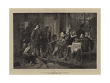 Shakespeare before the Justices Giclee Print by Julius Friedrich Anton Schrader