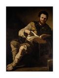 Democritus (C.460-C.370 BC) Giclée-tryk af Jusepe de Ribera