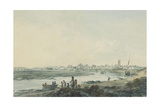 Cardiff from the South, C.1789 Giclee Print by Julius Caesar Ibbetson